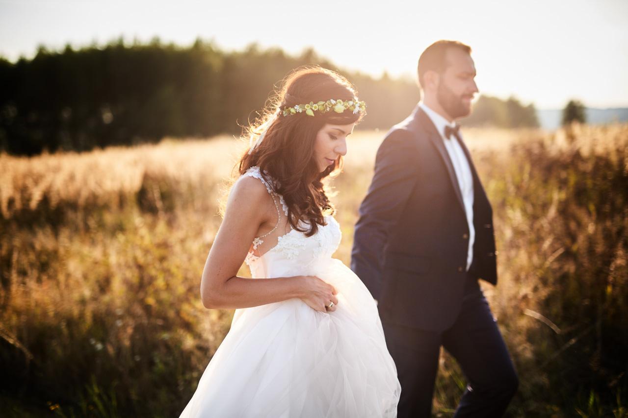 Sesja ślubna w słonecznikach